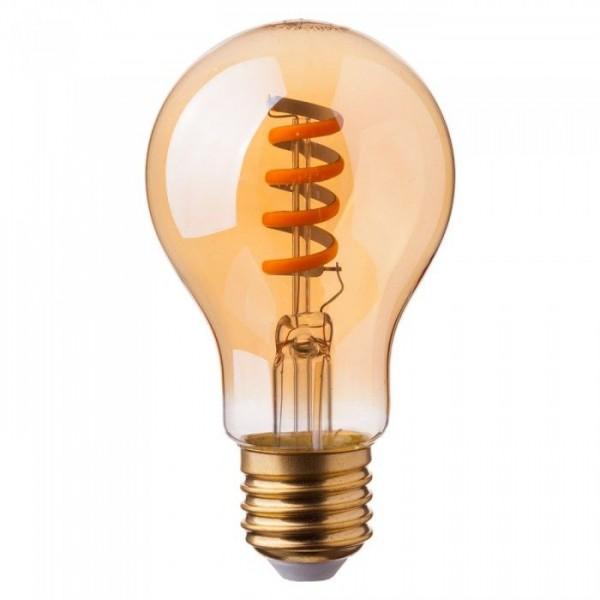 Bec LED Filament spirala 4W E27 Chihlimbar Alb Cald