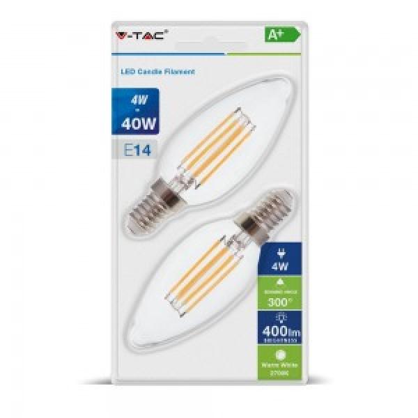 Bec LED 4W E14 Filament Lumana...