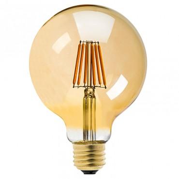 Bec LED Filament 8W E27 chihlimbar Dimabil G125 - lumina calda
