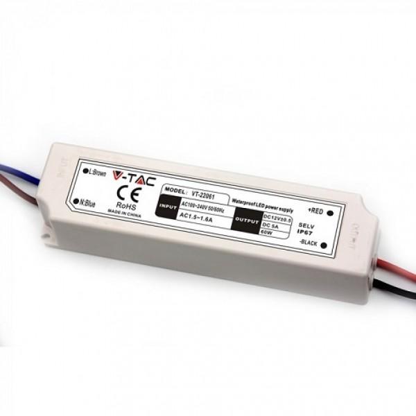 Sursa de alimentare transformator de exterior pentru banda LED 60W 12V IP67
