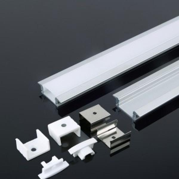 Profil din Aluminiu 2000 x 24.7 x 7 mm Aspect Laptos