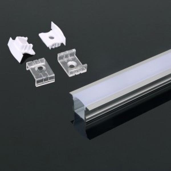 Profil din Aluminiu 2000 x 23 x 15.5 mm Aspect Laptos