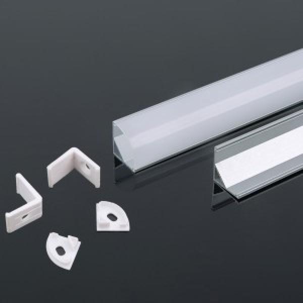 Profil din Aluminiu 2000 x 15.8 x 15.8 mm Aspect Laptos