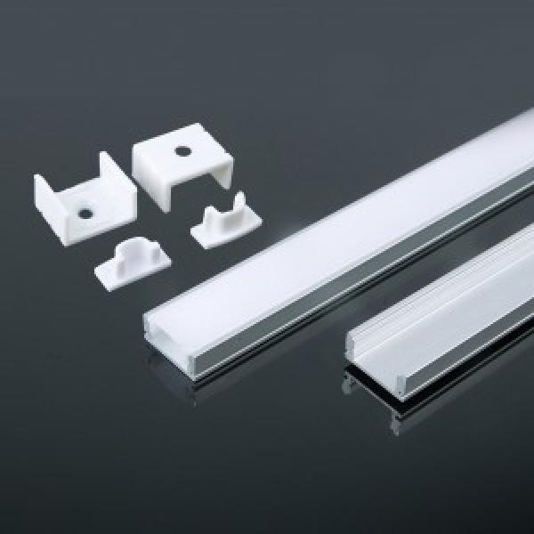 Profil din Aluminiu 2000 x 17.4 x 7 mm Aspect Laptos