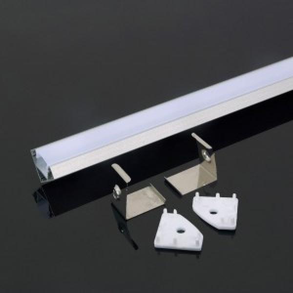 Profil din Aluminiu 2000 x 19 x 19 mm Aspect Laptos