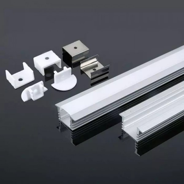 Profil din Aluminiu 2000 x 17.2 x 15.5 mm Aspect Laptos