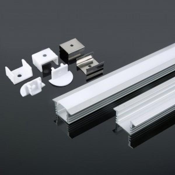 Profil din Aluminiu 2000 x 24.5 x 12.2 mm Aspect Laptos