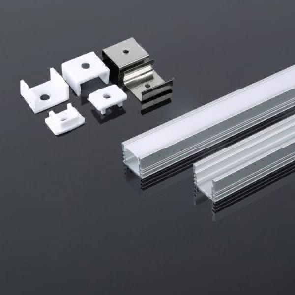 Profil din Aluminiu 2000 x 17.4 x 12.1 mm Aspect Laptos