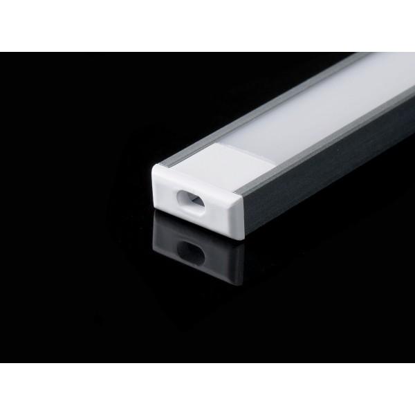 Profil din Aluminiu 2000 x 16 x 7 mm Aspect Laptos