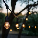 Ghirlanda luminoasa 10 becuri soclu E27 cu conectare la priza Europeana 5 Metri