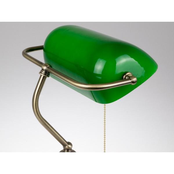 Veioza de birou vintage verde cu dulie E27 si intrerupator