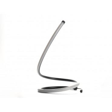 Lampa LED de birou Neagra Designer 17W cu cablu si intrerupator Alb Cald