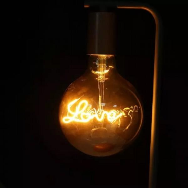 Lampa de birou designer bronz cu soclu E27 si intrerupator