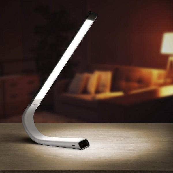 Lampa LED slim flexibila de birou Alba 6.5W 3 in 1