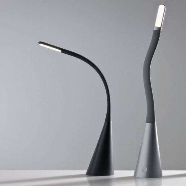 Lampa LED de birou ALIAS 3.5W flexibila dimabila cu port USB lumina calda