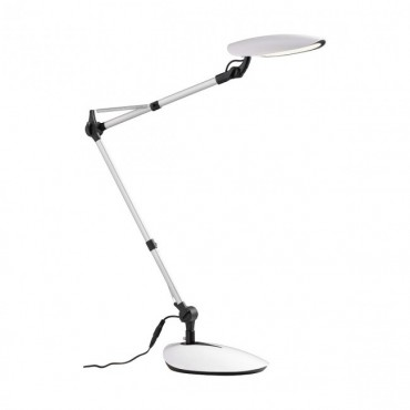 Veioza LED de birou mobila KEPLER 6.5W argintiu lumina calda