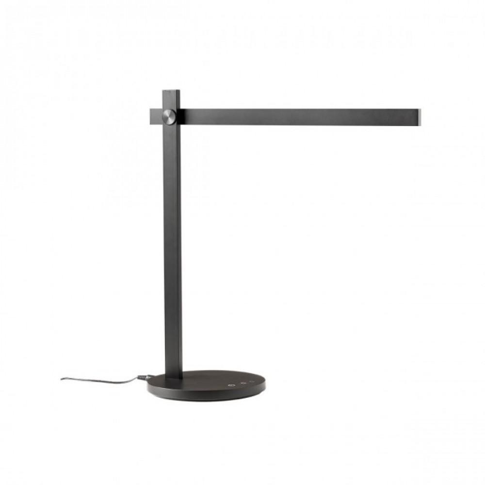 Veioza LED de birou OMEO 7.5W CCT dimabila 3 trepte negru mat