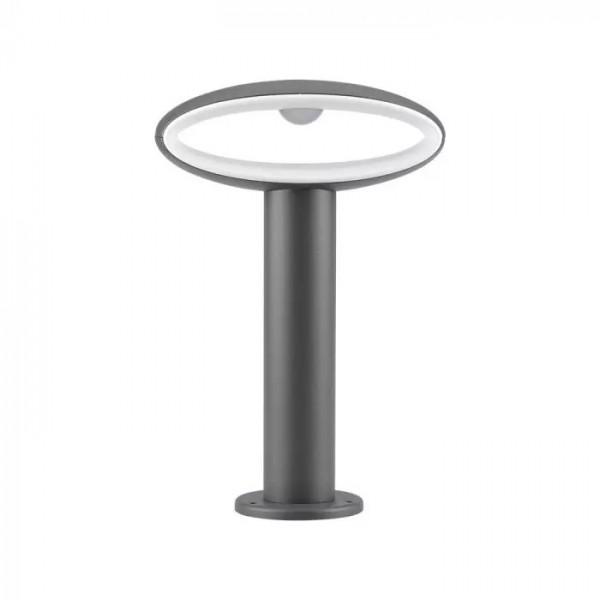 Stalpisor LED de gradina 9W din aluminiu gri inchis 30cm