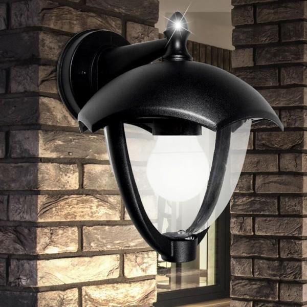 Lampa perete de Gradina E27 Corp Negru orientata in jos