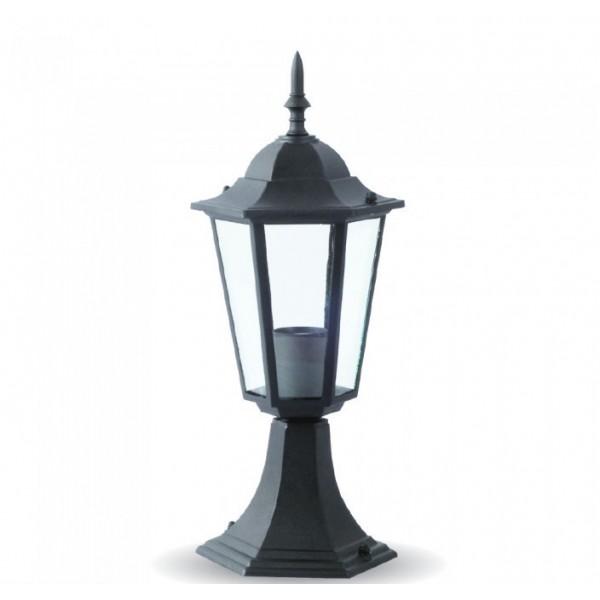 Suport Lampa de Gradina 1xE27 Corp Negru Mat