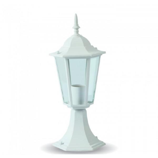 Suport Lampa de Gradina 1xE27 Corp Alb Mat