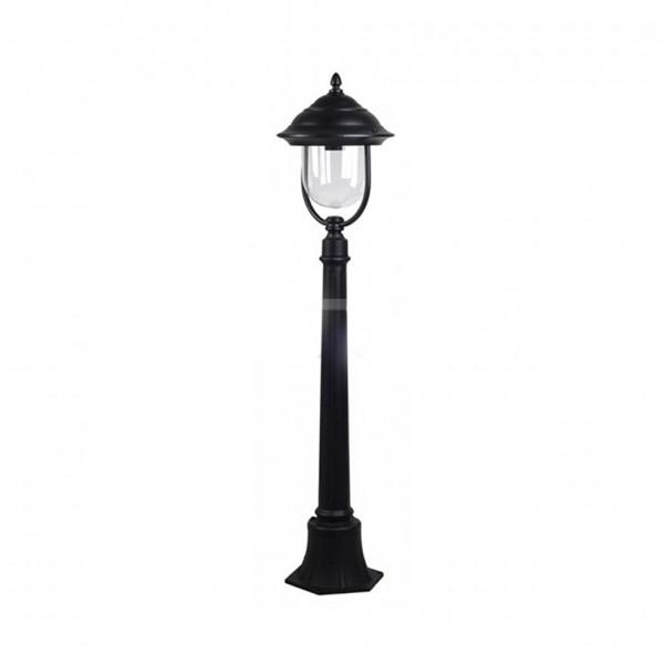 Lampa de Gradina pe stalp 1xE27 Corp Negru 1.1m