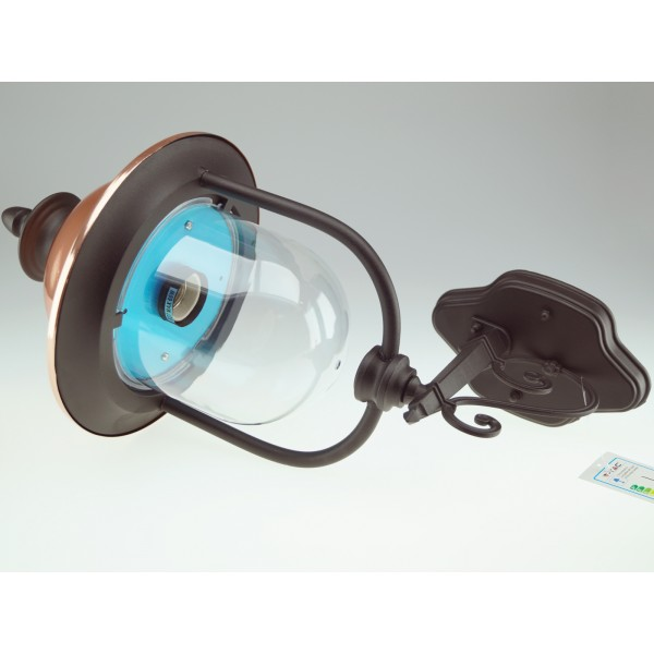 Lampa de perete 1xE27 Corp Negru Orientat in Sus