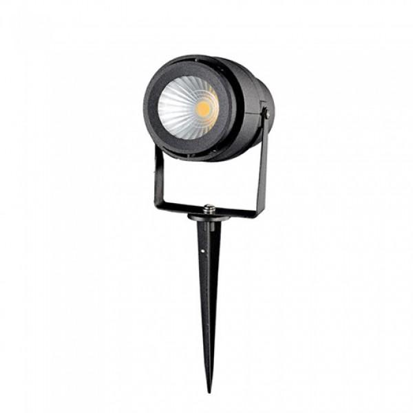 Corp iluminat LED tip tarus 12W Corp Negru Alb Cald