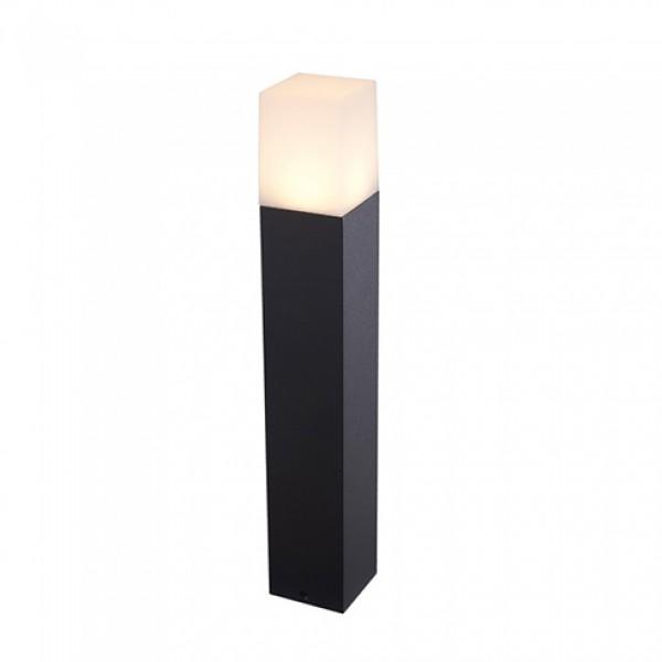 Lampadar de Gradina Aluminiu GU10 Patrat Corp Negru