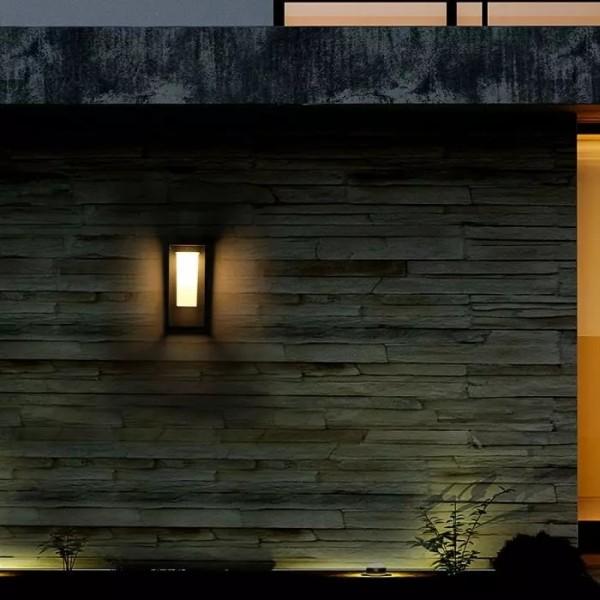 Lampadar solar LED cu cip SAMSUNG 2W cu senzor Corp Gri Alb Cald