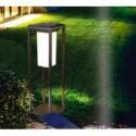 Lampadar solar LED cu tarus cip SAMSUNG 2W cu senzor Corp Gri Alb Cald