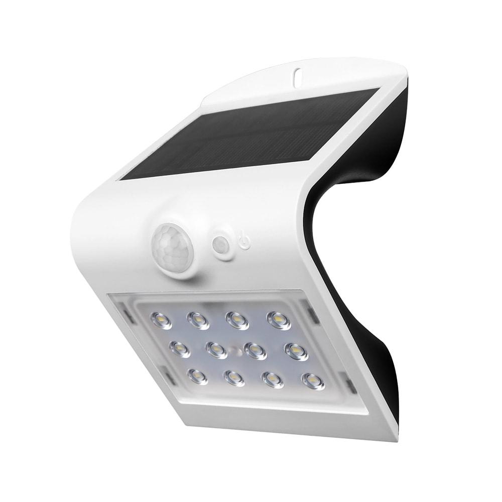 Lampa LED solara de perete 1.5W Alb Neutru Corp Alb