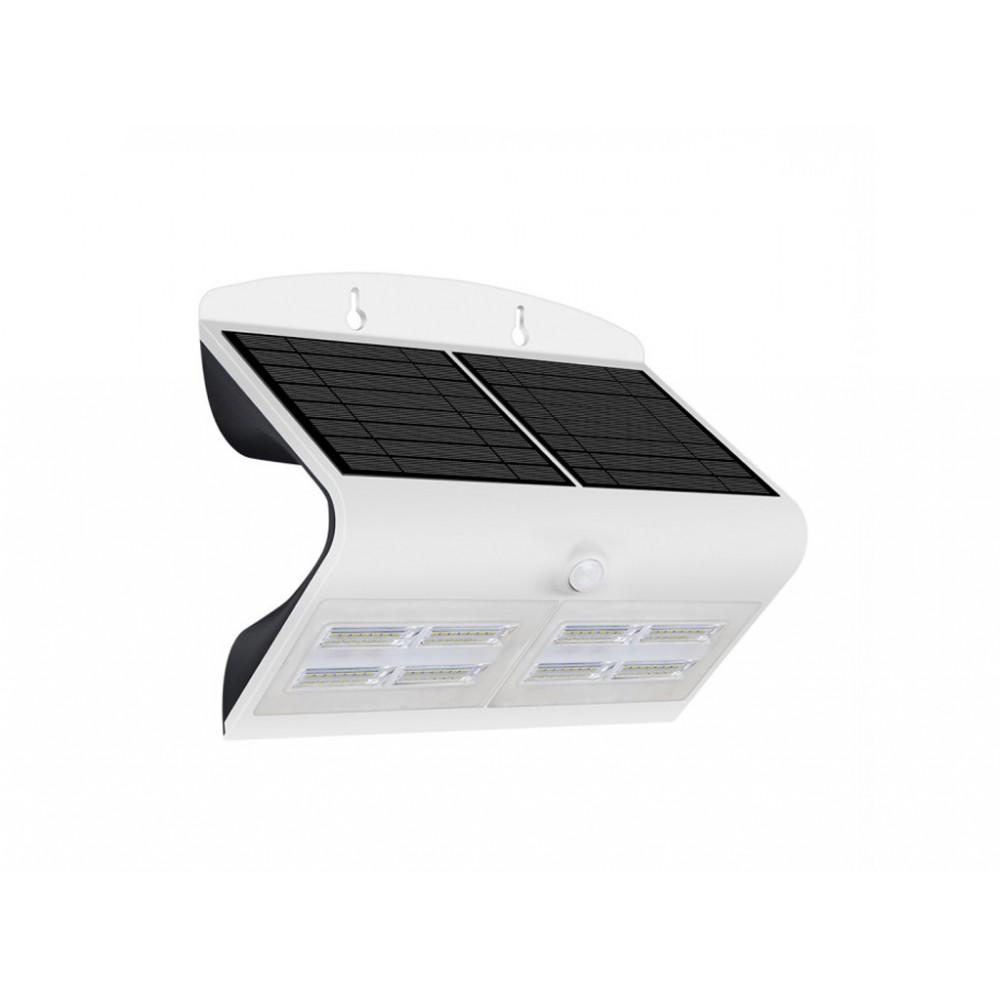 Lampa LED solara de perete 7W Alb Neutru Corp Alb