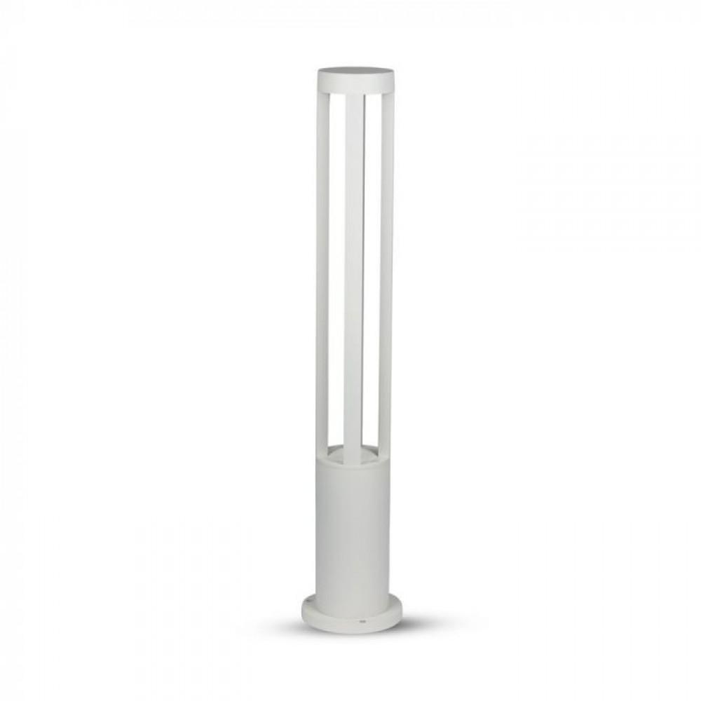 Aplica LED 10W de gradina Corp Alb 80cm inaltime lumina rece