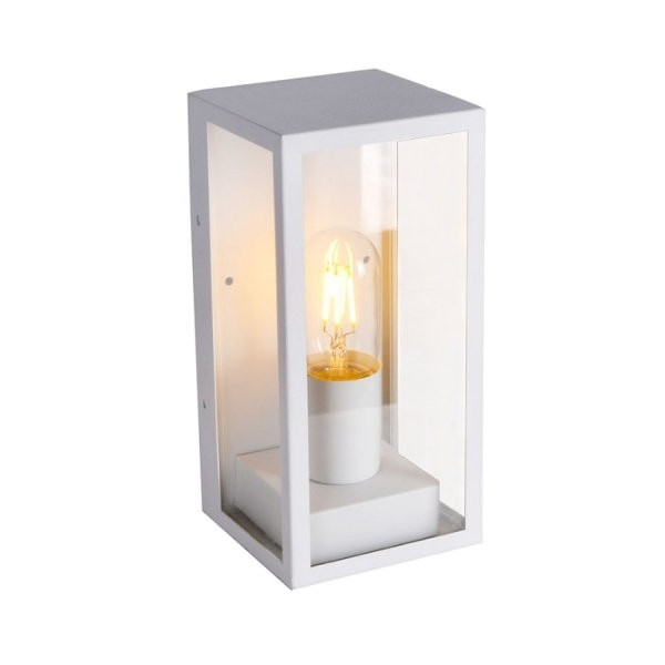 Lampadar de perete din sticla 1xE27 Corp Alb Mat