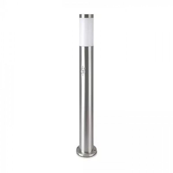 Stalpisor de gradina cu senzor PIR soclu E27 din otel inoxidabil 80cm