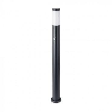 Stalpisor de gradina cu senzor PIR soclu E27 din otel inoxidabil 110cm