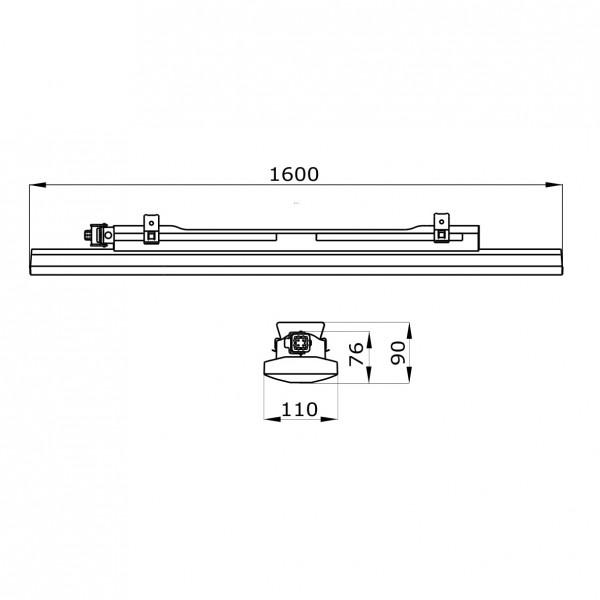 Corp iluminat liniar cu LED 1600mm 26W Gewiss Smart 3 72 LED-uri Mat