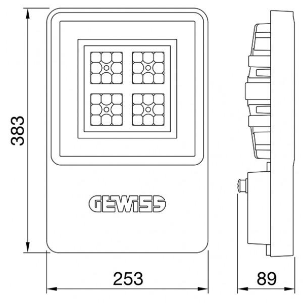 Proiector LED ANTIEX GEWISS Smart 4 ATEX 1M 64W lumina neutra