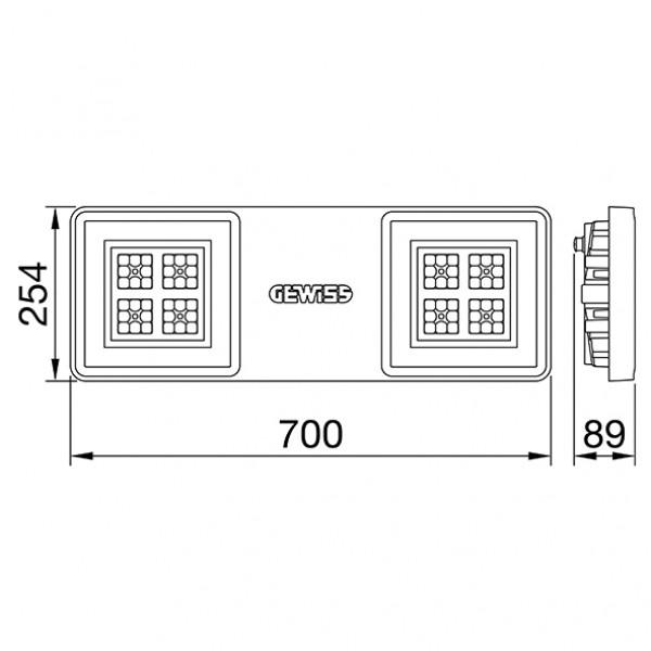 Proiector LED ANTIEX GEWISS Smart 4 ATEX 2M 127W lumina neutra