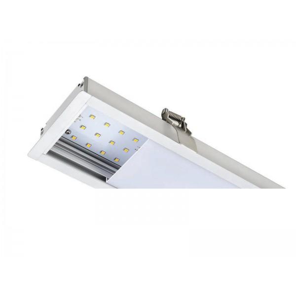 Corp de iluminat cu LED interconectabil incastrat 40W CIP SAMSUNG 120cm Alb Neutru Corp Alb