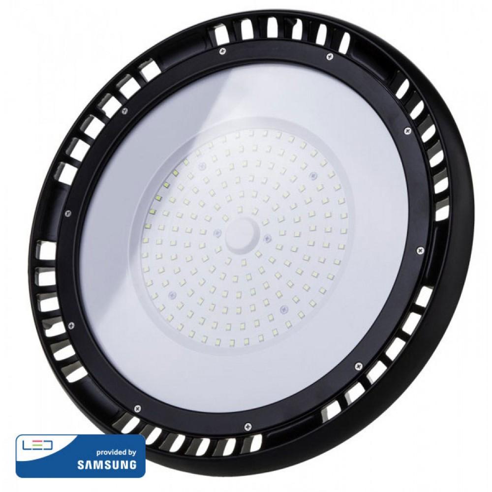 Lampa industriala LED Cip SAMSUNG 100W UFO 90 de grade Alb Rece