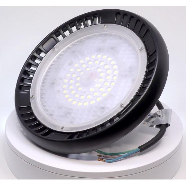Lampa industriala LED Cip SAMSUNG 100W UFO 120 de grade Alb Rece