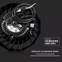 Lampa industriala LED Cip si driver SAMSUNG 100W 120lmW UFO 90 de grade Alb Rece