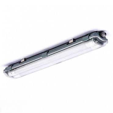Corp Iluminat etans cu Tub LED 2X10W 60cm Alb Rece