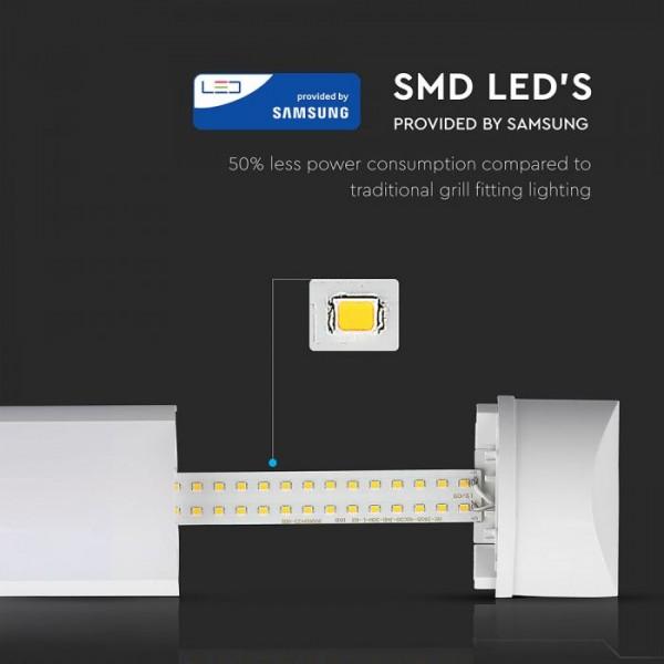 Corp De Iluminat Cu LED 40W CIP SAMSUNG 120cm Alb Neutru