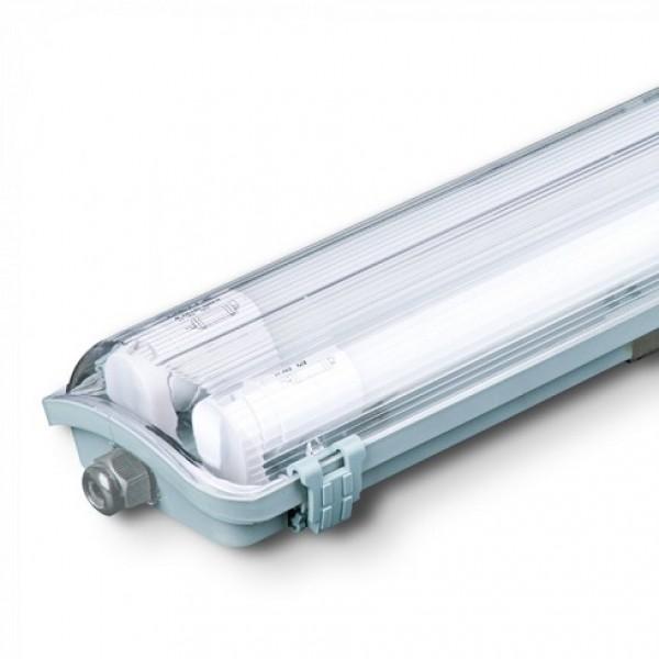 Corp Iluminat etans cu Tub LED 2X18W 120cm Alb Rece