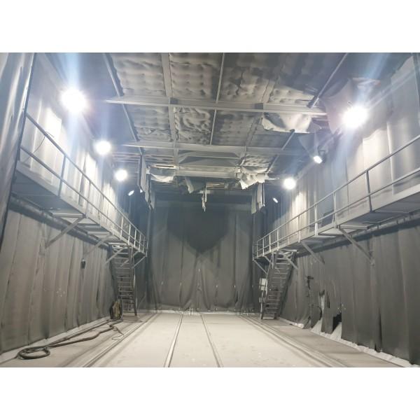 Proiector LED Castor 4M 140W cu masca pentru sablare