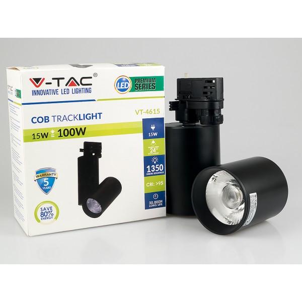 Proiector LED 15W pe sina Corp Negru Alb Neutru