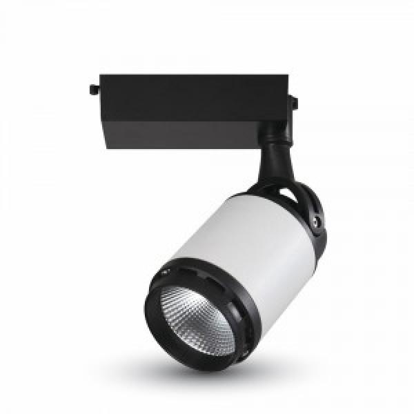 Corp iluminat LED 10W pe sina Alb/Negru Alb Cald